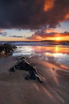 Sunset on the South Hams, I just loved the colour and reflections here :-) Keep in touch on Twitter: @Gking_photo