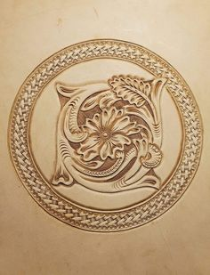 Leather Tooling Patterns, Leather Pattern, Leather Carving, Tooled Leather, Gourd Art, Gourds, Leather Craft, Creations, Artwork