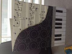 Musical birthday card: the score in the back is my mom's favorite piece of piano music.