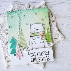 Created for Neat & Tangled using their amazing Scandinavian Prints Christmas and Beary Merry stamp sets. #cardmaking #neatandtangled #stamping #diecut #diecutting #papercraft #christmascard #christmas