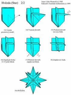 Origami Star from One Sheet pointed) Origami 101, Origami Yoda, Origami Star Box, Origami And Kirigami, Origami Dragon, Origami Fish, Useful Origami, Origami Tutorial, Origami Paper
