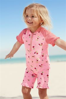 Pink Rose All Over Print Sunsafe Suit (3mths-6yrs)