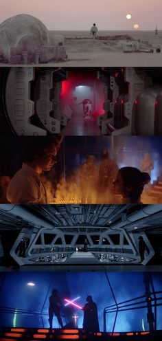 The Star Wars Trilogy (1977-1983), d. George Lucas, Irvin Kershner, Richard Marquand, d.p. Gilbert Taylor,  Peter Suschitzky, Alan Hume