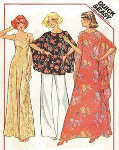 Misses Dress or Top, Caftan and Pants: Dress or Top, and Pants for Stretch Knits Only - Sleeveless, pullover dress or top has scooped neck. Pullover