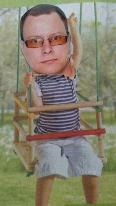 Pablito on the swing
