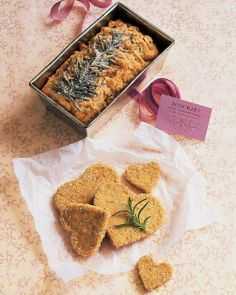 Rosemary represents remembrance and these rosemary shortbread cookies are sure to make a lasting impression. Recipe: Rosemary-Walnut Shortbread Cookies Related: 17 Craveable Cookies from O, The Oprah Magazine Shortbread Cookies Martha Stewart, Rosemary Shortbread Cookies, Walnut Cookies, Valentines Day Cookie Recipe, Valentines Day Desserts, Valentine Recipes, Valentine Treats, Funny Valentine, Crack Crackers