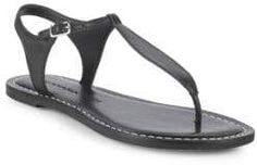 T-Strap Leather Sandals T Strap, Ankle Strap, Shoe Deals, Leather Design, Leather Sandals, Black Leather, Product Launch, Shoes, Contrast