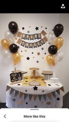 Happy Birthday Decor, Birthday Decorations At Home, 18th Birthday Party, Graduation Decorations, Birthday Party Decorations, Birthday Celebration, Husband Birthday, Birthday Balloons, Google