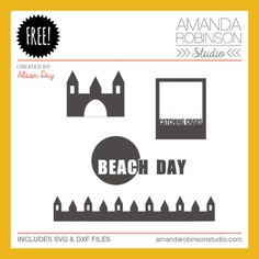 Free beach-themed cutting files | by Alison Day | .svg and .dxf files  #Silhouette #CutFiles