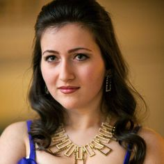 Mane Galoyan (1993) Received her degree at the Yerevan State Komitas Conservatory. In 2009 she won at the Renaissance Contest Festival in Gyumri (Armenia). In 2013 she won a gold medal at the 7th Youth Delphic Games in Kazakhstan, and was awarded the Presidential Prize of Armenia, In 2014 she joined the Young Artists Vocal Academy at the Houston Grand Opera. She won in Dusseldorf, in Astana and  in Ningbo. In 2015 she won the Competition for Young Opera Singers at the Houston Grand Opera.