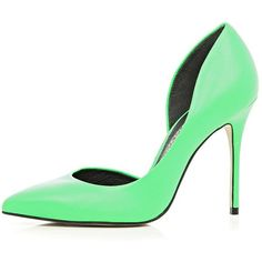 River Island Green cut out side court shoes found on Polyvore