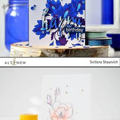 Remember to visit the @altenewllc blog to find out how Svitlana (@izo_lda) and Nicole (@bluenicole07) created their gorgeous cards!! We're in love with Svitlana and Nicole's cards, let us know what you think below! :) #chameleonpens #altenew #alcoholmarkers #stamps #die #marker #markerpen #pen #card #cardmaking #papercraft #craft #crafting #handmade #greetingscard #blog #colour #color #colouring #coloring #thankyou #happybirthday #birthdaycard #floral #pastel #blue