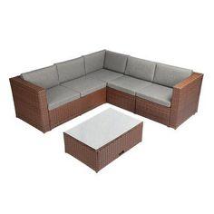 Orren Ellis Nlasa Outdoor Complete 4 Teilige Rattan Anbausitzgruppe Mit Kissen In 2020 Rattan Garden Corner Sofa Patio Cushions Outdoor Garden Furniture