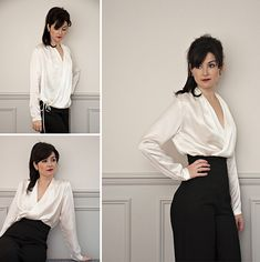 Anderson Blouse | Sew Over It | Based on the iconic silk blouses worn by Gillian Anderson in hit series The Fall, the Anderson blouse is a glamorous classic. You can wear it tucked in for a city slick look or loose for a more casual vibe.