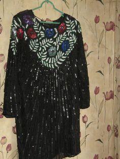Vintage Swee Lo   natural silk black   by Linsvintageboutique, $48.50