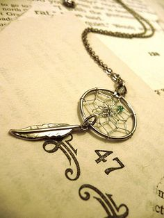 native american dreamcatcher charm necklace by FamousJennies, via Flickr