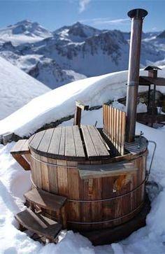 wood fired hot tubs in the snow - Google-søk