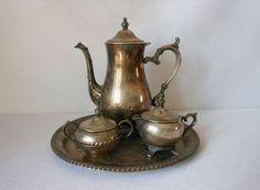Primrose Plate B.M. Mounts #358 Tea Pot Rogers Bro. Silver plate ...