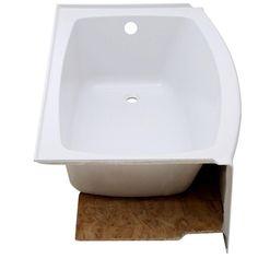 American Standard Ovation 5 Ft. Right Drain Bathtub In Arctic White