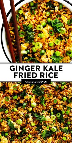 Vegan Recipes Easy, Rice Recipes, Asian Recipes, Vegetarian Recipes, Dinner Recipes, Dinner Healthy, Healthy Eating, Gimme Some Oven, Food For Thought