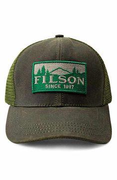 7276a397441 Filson Logger Trucker Hat Baseball Hats