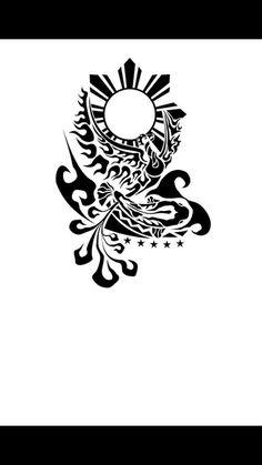 Interesting Pinoy tribal – My World Filipino Tribal Tattoos, Samoan Tattoo, I Tattoo, Tattoo Drawings, Armband Tattoo, Polynesian Tattoos, Tattoo Sleeve Designs, Tattoo Designs For Women, Sleeve Tattoos