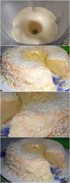 FAÇA ESSE BOLO E DEIXESEU MARIDÃO SUPER FELIZ(Bolo segura marido) VEJA AQUI>>>Bata todos os ingredientes no liquidificador. Coloque em uma fôrma untada e enfarinhada. #receita#bolo#torta#doce#sobremesa#aniversario#pudim#mousse#pave#Cheesecake#chocolate#confeitaria