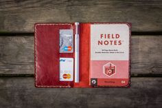 This red color Field Notes cover from Galen Leather is so me