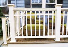 Archadeck of Suburban Boston Porch Craftsmanship Porch Balusters, Front Porch Railings, Front Porch Steps, Front Verandah, Front Porches, Craftsman Style Porch, Craftsman Exterior, Window Grill Design, Fence Design