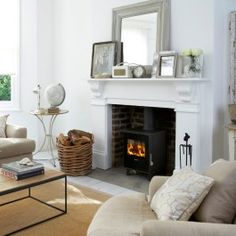 Living room ideas – [pin_pinter_full_name] Living room ideas Morso Squirrel 1418 Radiant Multifuel / Woodburning Stove – Stoves from Stores Direct Living Room Paint, New Living Room, Living Room Interior, Home And Living, Cozy Living, Log Burner Living Room, Young Living, Wood Burner Fireplace, Fireplace Hearth