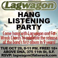 Lagwagon – Hang Listening Party! 10/28/2014 - News: Fat Wreck Chords