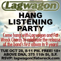 Lagwagon – Hang Listening Party! 10/28/2014 - News: Fat Wreck Chords
