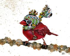 8x10 Art Print Cardinal Blaze 3 by TheOpulentNest on Etsy, $18.00