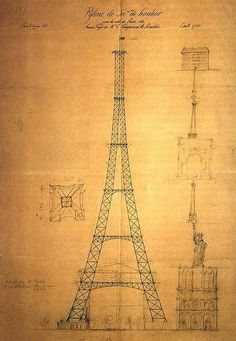 Le premier croquis de ce qui deviendra la Tour Eiffel