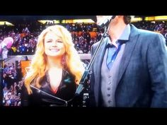 Here's Blake and Miranda singing America the Beautiful and the Super Bowl!