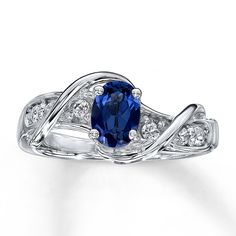 Lab Created Sapphire Ring Oval Cut Sterling Silver - TACKY McTACKERSON