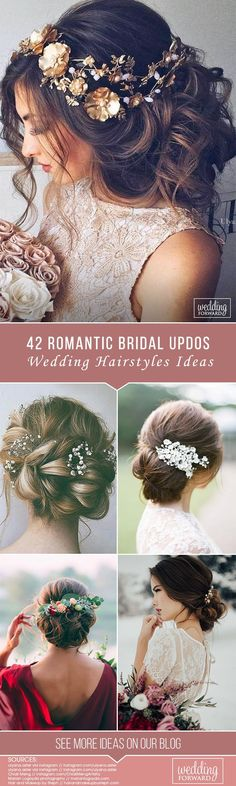 42 Wedding Hairstyles - Romantic Bridal Updos ❤️ We make a list of our favorite wedding hairstyles for long hair. Look through it and pick your perfect variant to become the most beautiful bride. See more: http://www.weddingforward.com/romantic-bridal-updos-wedding-hairstyles/ #wedding #hairstyles #romanticbridalupdosweddinghairstyles