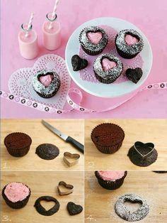 Cup Cakes von Herzen