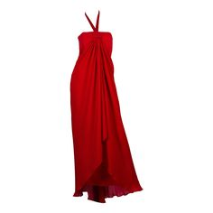 1970s Bill Blass Gown with Cape | From a collection of rare vintage evening dresses at https://www.1stdibs.com/fashion/clothing/evening-dresses/