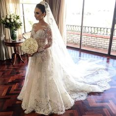 "Wedding on Instagram: ""Elegant Dress By:@steven_khalil #wedding"""