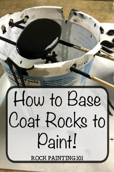 Base Coat Rocks to paint. Add a quick and inexpensive base coat to your rock painting. This method uses acrylic paint…. Base Coat Rocks to paint. Add a quick and inexpensive base coat to your rock painting. This method uses acrylic paint…. Rock Painting Patterns, Rock Painting Ideas Easy, Rock Painting Designs, Paint Designs, Rock Painting Ideas For Kids, Rock Painting Supplies, Painting Tutorials, Pebble Painting, Pebble Art