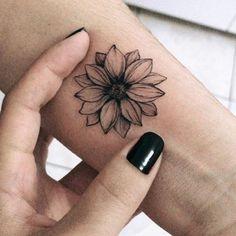 Black Sunflower Wrist Tattoo Ideas For Women - Ideas For Tattoos For Women . - Black Sunflower Wrist Tattoo Ideas For Women – Ideas For Tattoos For Women ……, - Mini Tattoos, Dream Tattoos, Little Tattoos, Body Art Tattoos, New Tattoos, Sister Tattoos, Temporary Tattoos, Diy Tattoo, Tattoo Ink