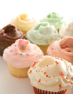"SusieCakes' Signature ""Frosting-filled"" Cupcakes with buttercream frosting"