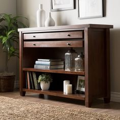 Walnut Cherry Navigator Console Table   Overstock.com Shopping - The Best Deals on Coffee, Sofa & End Tables