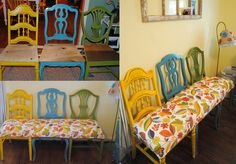 8 Great DIY Projects to Turn Old Chairs Into Gorgeous One of a Kind Benches