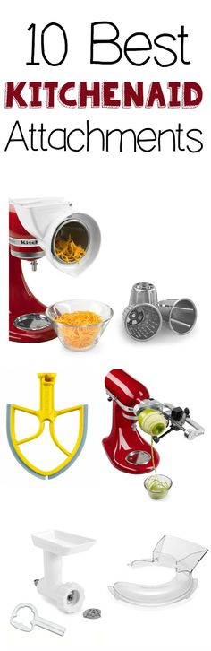 Best Kitchenaid Attachments - the Grant life 10 BEST kitchenaid attachments! Have a Kitchenaid Check out these great attachments and what they do! Kitchen Aid Recipes, Kitchen Hacks, Kitchen Gadgets, Kitchen Appliances, Kitchen Tools, Toy Kitchen, Kitchen Aid Mixer, Kitchen Utensils, Kitchen Aide