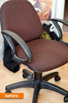 Before & After: The $5 New Upholstery Office Chair Makeover Instructables | Apartment Therapy