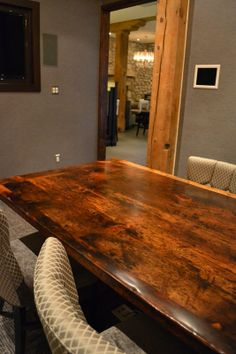 Boardroom Table  Threshing Floor Board Construction  Epoxy + polyurethane finish www.hdthreshing.com