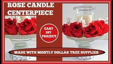 Rose Candle💖 Wedding Centerpiece💖 with lots of Bling DIY