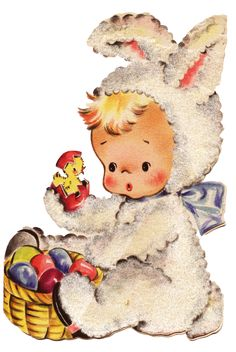 Bunny+boy+with+chickies spring inspirations vintage graphics and images, and sculptures created just for you Easter Art, Easter Crafts, Easter Bunny, Happy Easter, Vintage Easter, Vintage Holiday, Easter Illustration, Mickey Mouse, Easter Parade